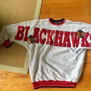 LF First of a Kind Vintage Blackhawks Sweatshirt